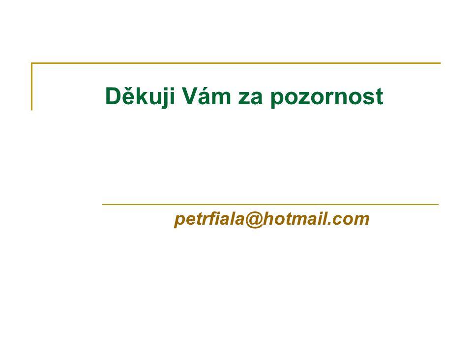 Děkuji Vám za pozornost petrfiala@hotmail.com