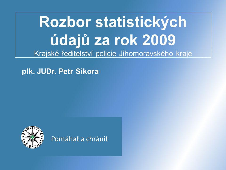 POLICIE ČESKÉ REPUBLIKY – POMÁHAT A CHRÁNIT Krajské ředitelství policie Jihomoravského kraje Porovnání jednotlivých Územních odborů – nápad TČ