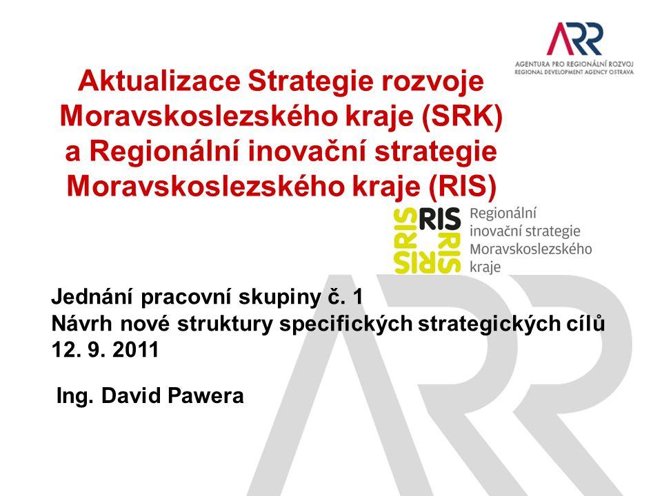 Aktualizace Strategie rozvoje Moravskoslezského kraje (SRK) a Regionální inovační strategie Moravskoslezského kraje (RIS) Jednání pracovní skupiny č.
