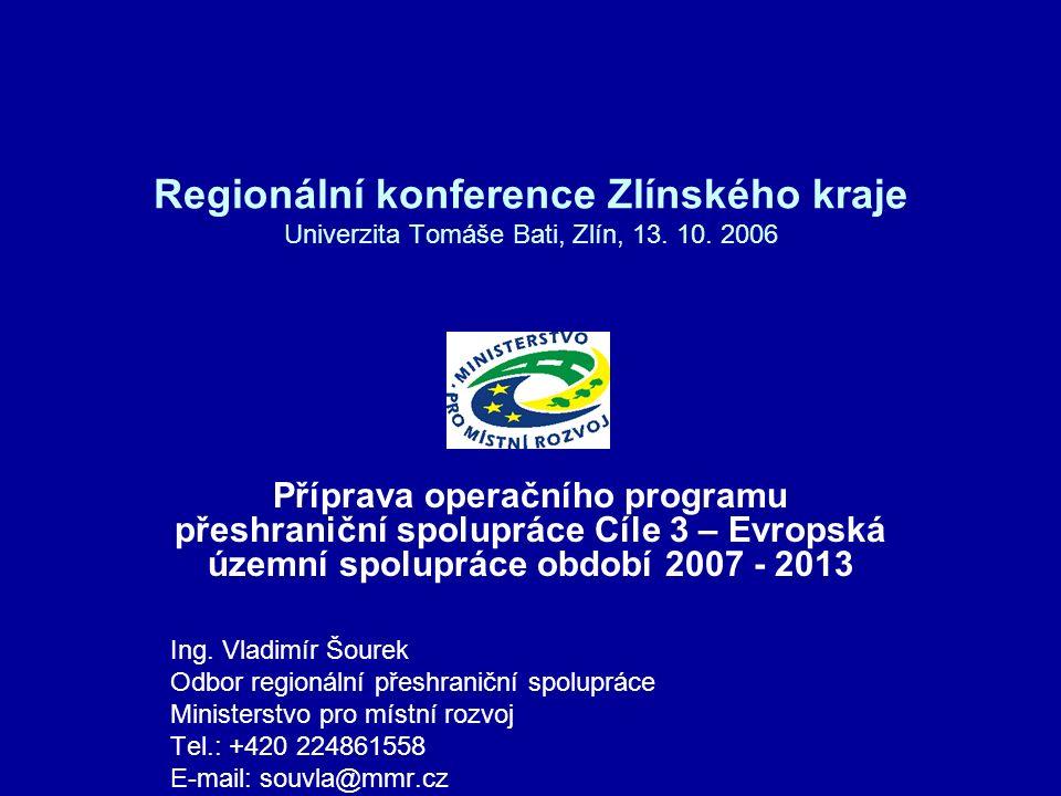 Regionální konference Zlínského kraje Univerzita Tomáše Bati, Zlín, 13.