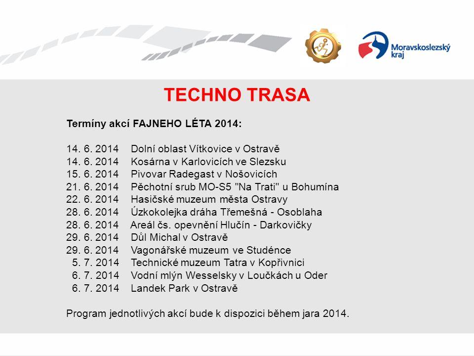 TECHNO TRASA Termíny akcí FAJNEHO LÉTA 2014: 14. 6.