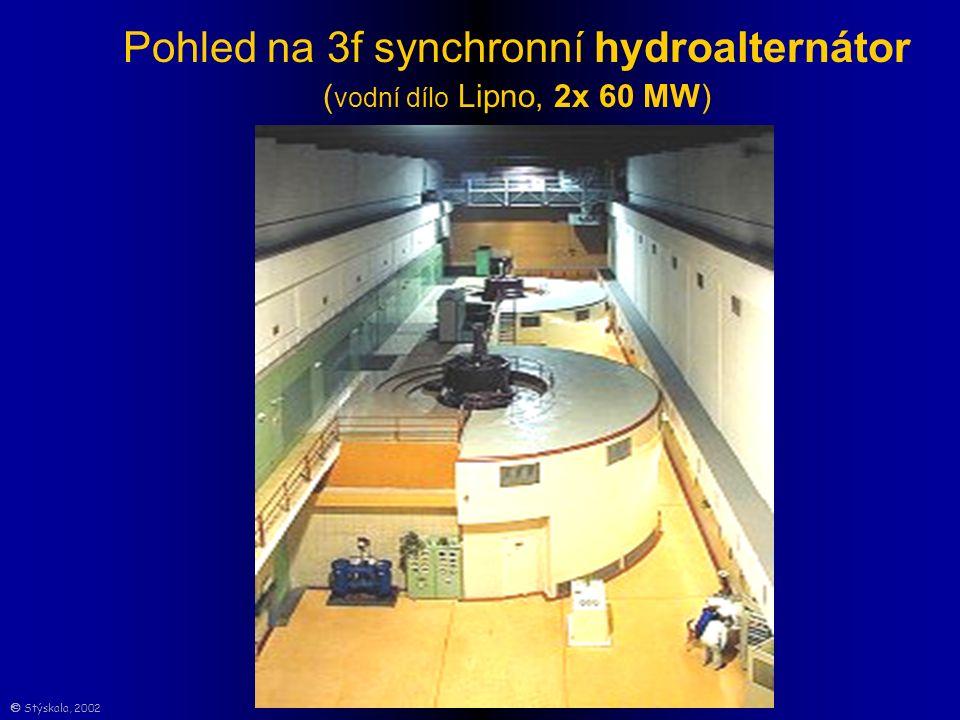Pohled na 3f synchronní hydroalternátor ( vodní dílo Lipno, 2x 60 MW)  Stýskala, 2002