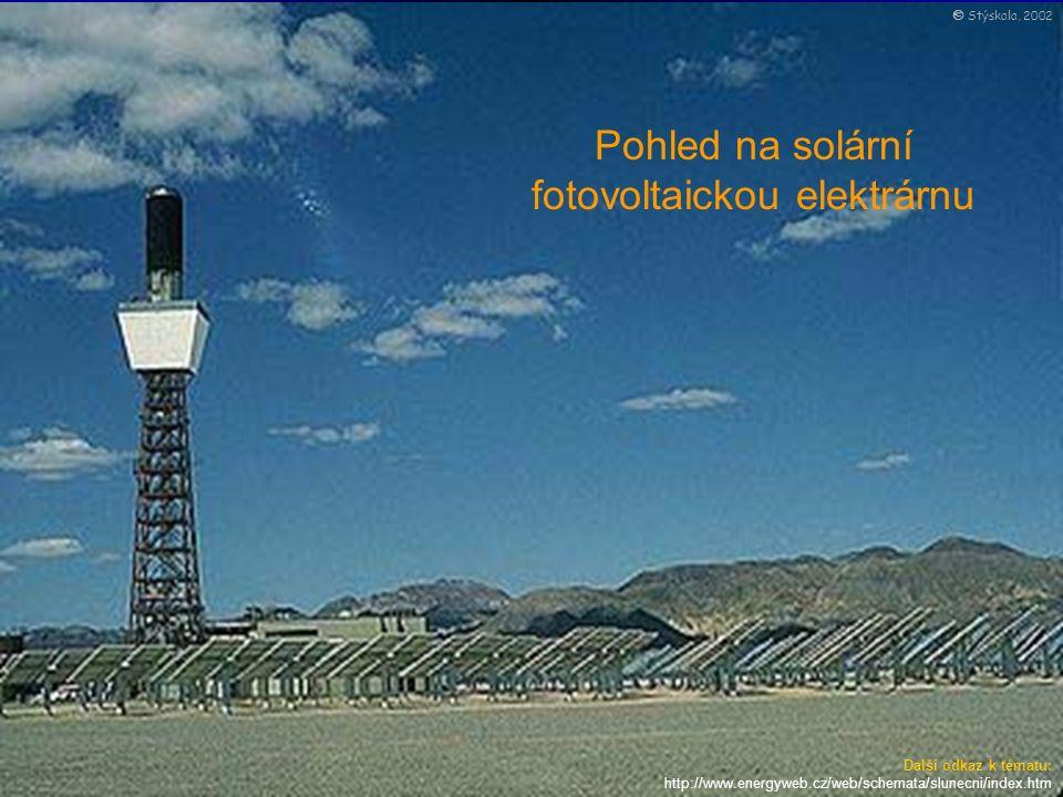 MISCELLANEOUS ELECTRICAL DEVICES Pohled na solární fotovoltaickou elektrárnu Další odkaz k tématu: http://www.energyweb.cz/web/schemata/slunecni/index.htm  Stýskala, 2002