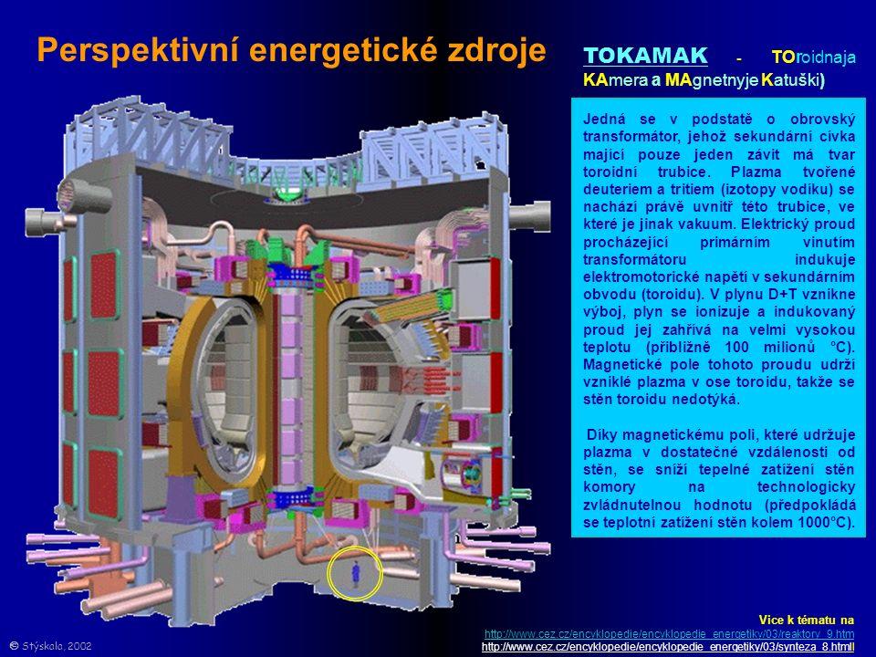 TOKAMAK - TOroidnaja KAmera a MAgnetnyje Katuški) Jedná se v podstatě o obrovský transformátor, jehož sekundární cívka mající pouze jeden závit má tvar toroidní trubice.
