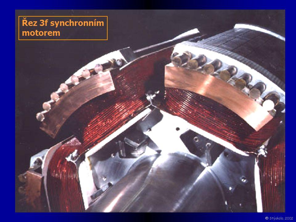 Řez 3f synchronním motorem  Stýskala, 2002