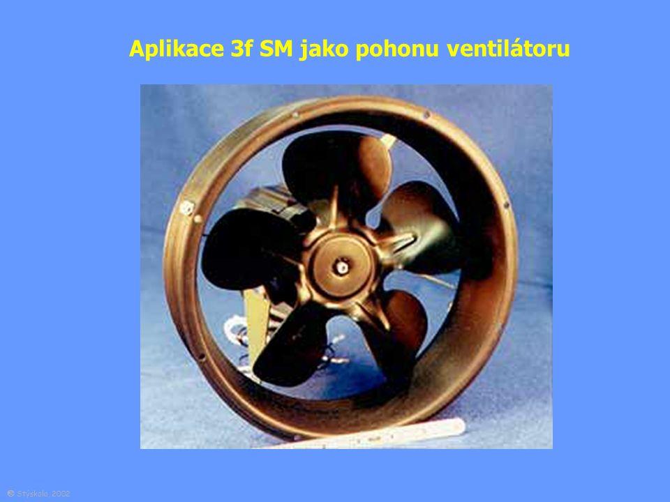 Aplikace 3f SM jako pohonu ventilátoru  Stýskala, 2002