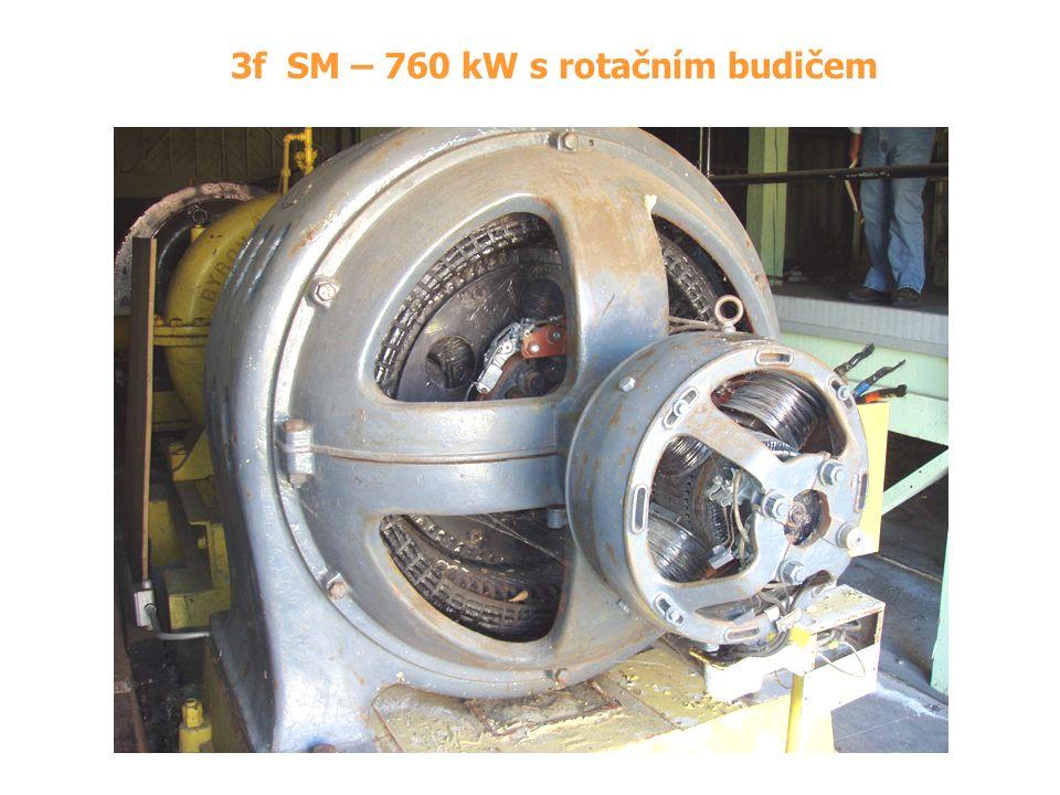 3f SM – 760 kW s rotačním budičem