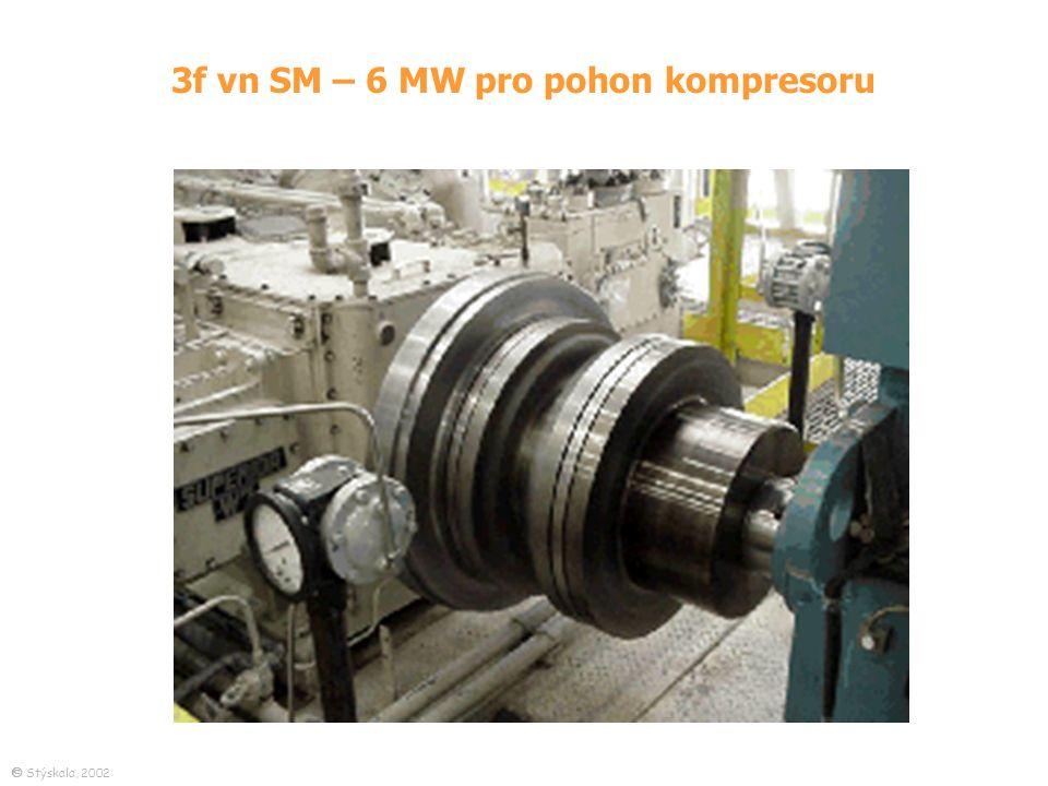 3f vn SM – 6 MW pro pohon kompresoru  Stýskala, 2002
