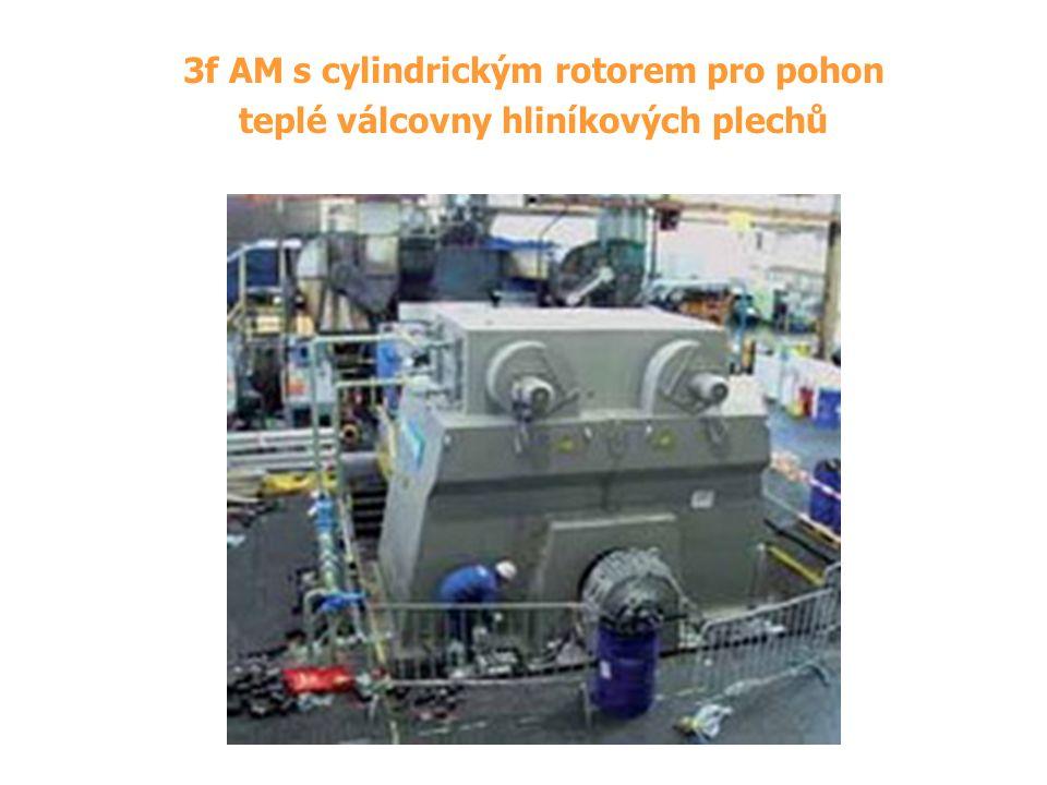 3f AM s cylindrickým rotorem pro pohon teplé válcovny hliníkových plechů