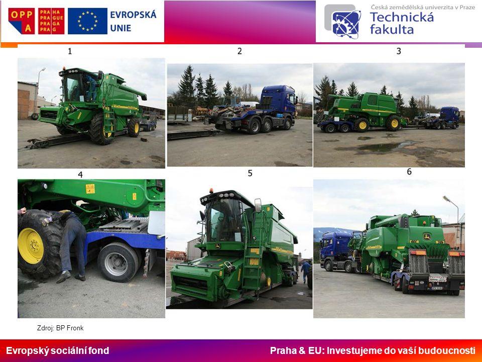 Evropský sociální fond Praha & EU: Investujeme do vaší budoucnosti Zdroj: BP Fronk