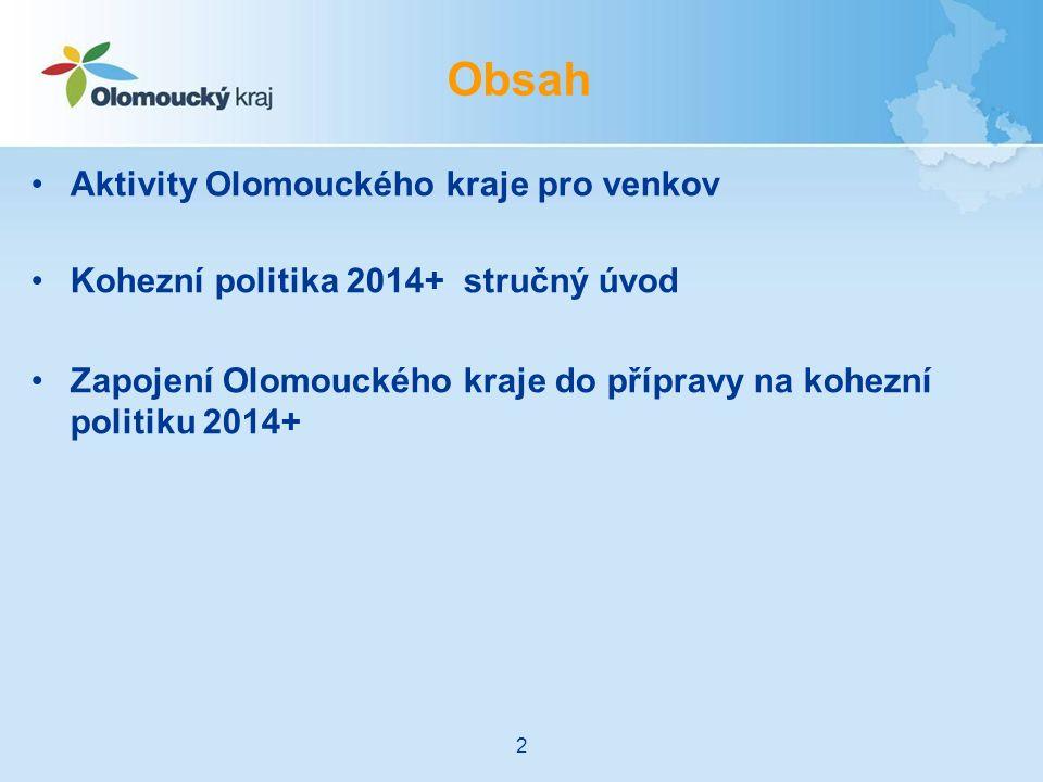 Další kroky Olomouckého kraje: Připomínkování regionální dimenze v operačních programech, spolupráce v rámci AK ČR – 4/2012-6/2013 Příprava Strategie integrovaného územního rozvoje Olomouckého kraje – 6/2013 –Ustavení regionálního partnerství –Návrh priorit a alokací pro čerpání z operačních programů –Návrh způsobu implementace Rozpracování priorit s partnery, příprava Regionálních dohod o partnerství – 6/2013-11/2013 Schválení Strategie integrovaného územního rozvoje Olomouckého kraje – 11/2013-12/2013 Dopracování ex-ante kondicionalit a zahájení realizace strategie – 1/2014 Časový plán na další období kraj 23