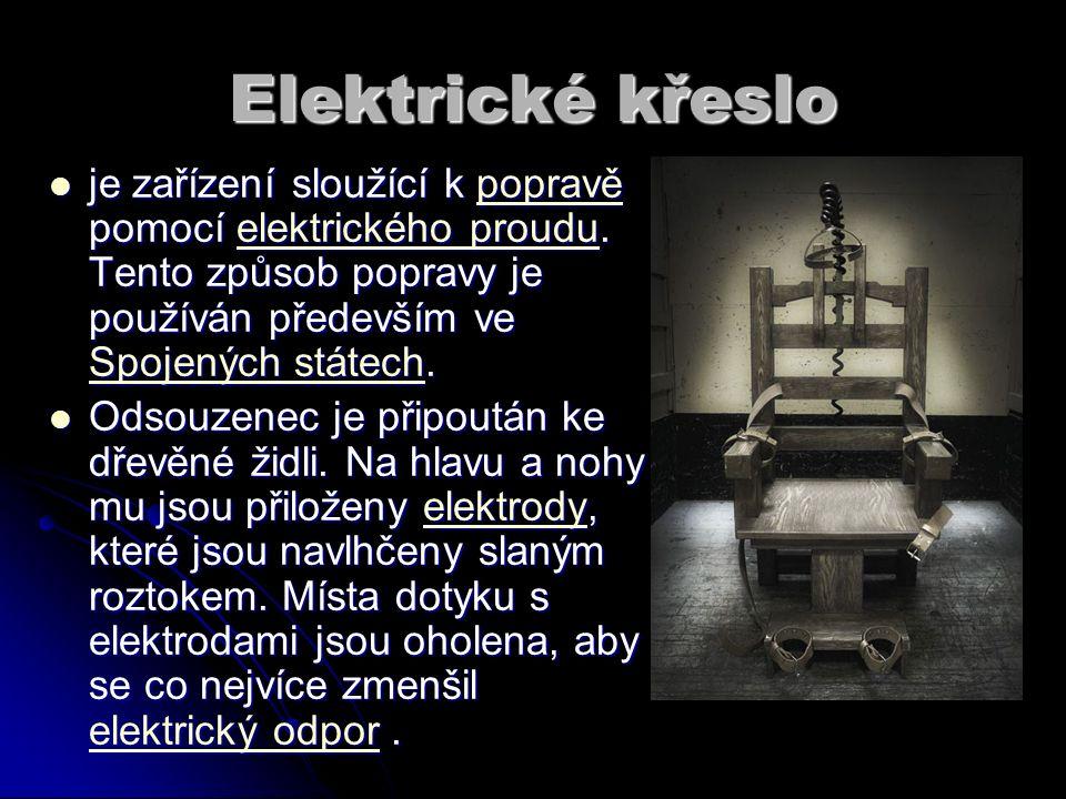 Elektrické křeslo je zařízení sloužící k popravě pomocí elektrického proudu. Tento způsob popravy je používán především ve Spojených státech. je zaříz