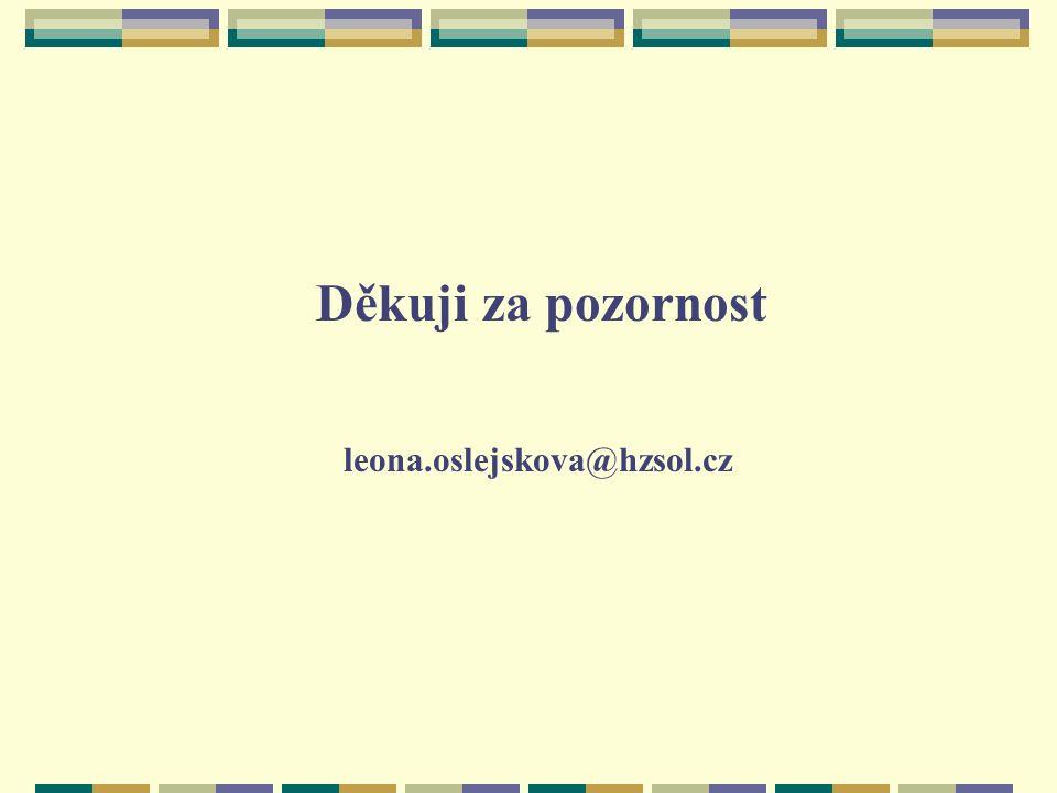 Děkuji za pozornost leona.oslejskova@hzsol.cz