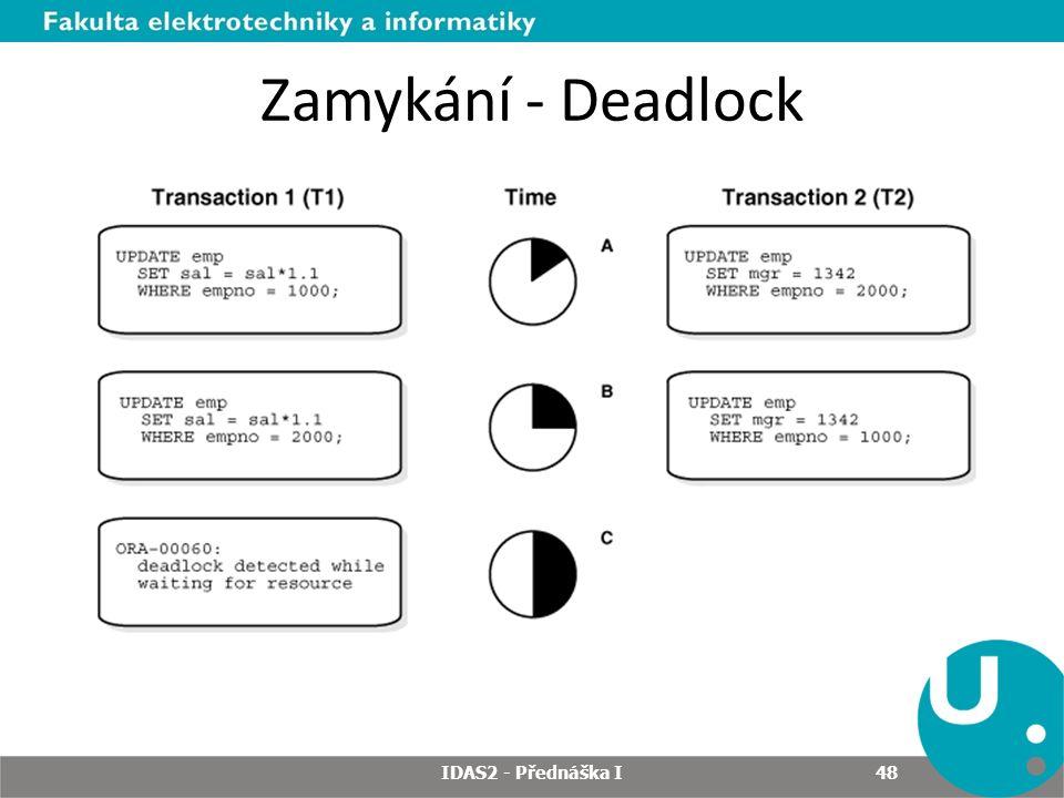 Zamykání - Deadlock IDAS2 - Přednáška I 48