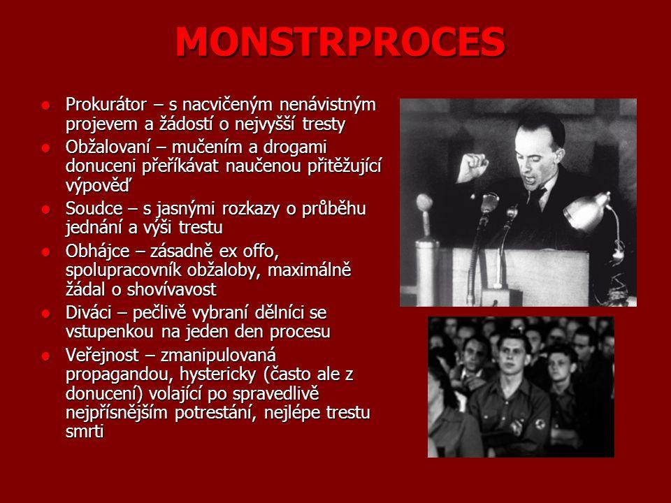 Typy procesů (50. léta) Dovršení únorového puče (Kempný, Bugár, Dr.