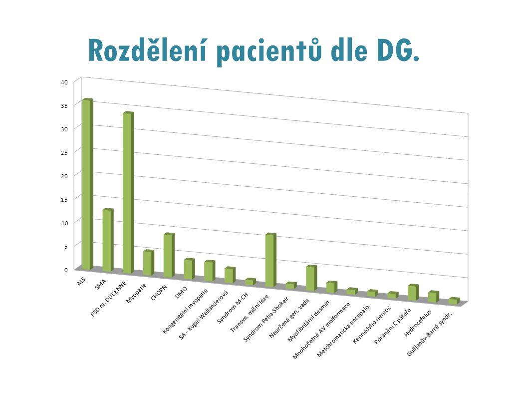 Rozdělení pacientů dle DG.