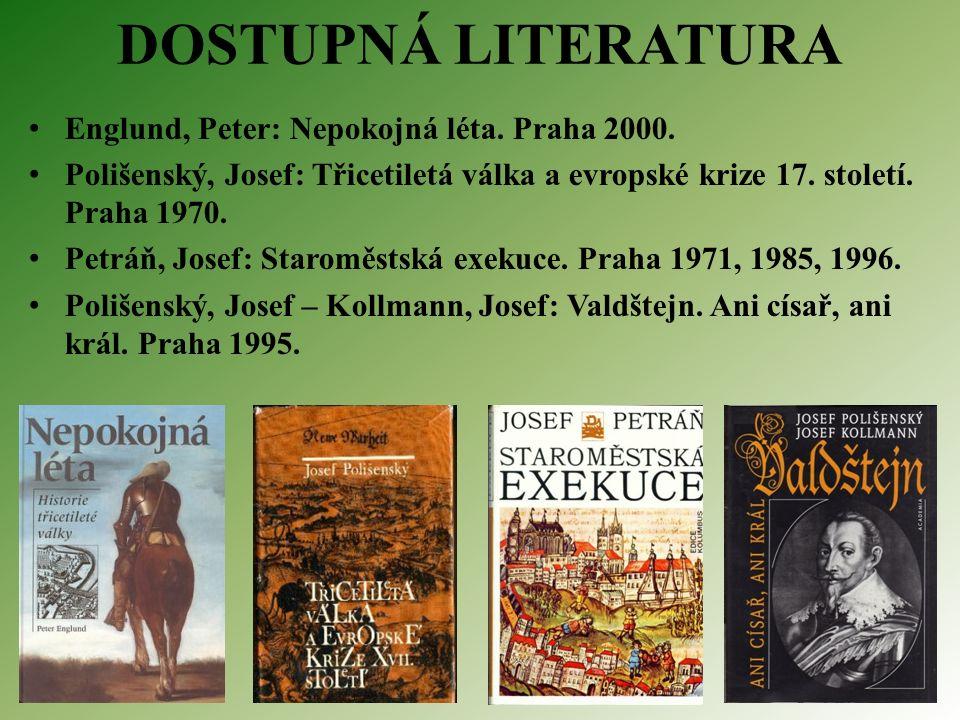 DOSTUPNÁ LITERATURA Englund, Peter: Nepokojná léta.