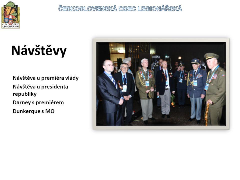 Návštěvy Návštěva u premiéra vlády Návštěva u presidenta republiky Darney s premiérem Dunkerque s MO