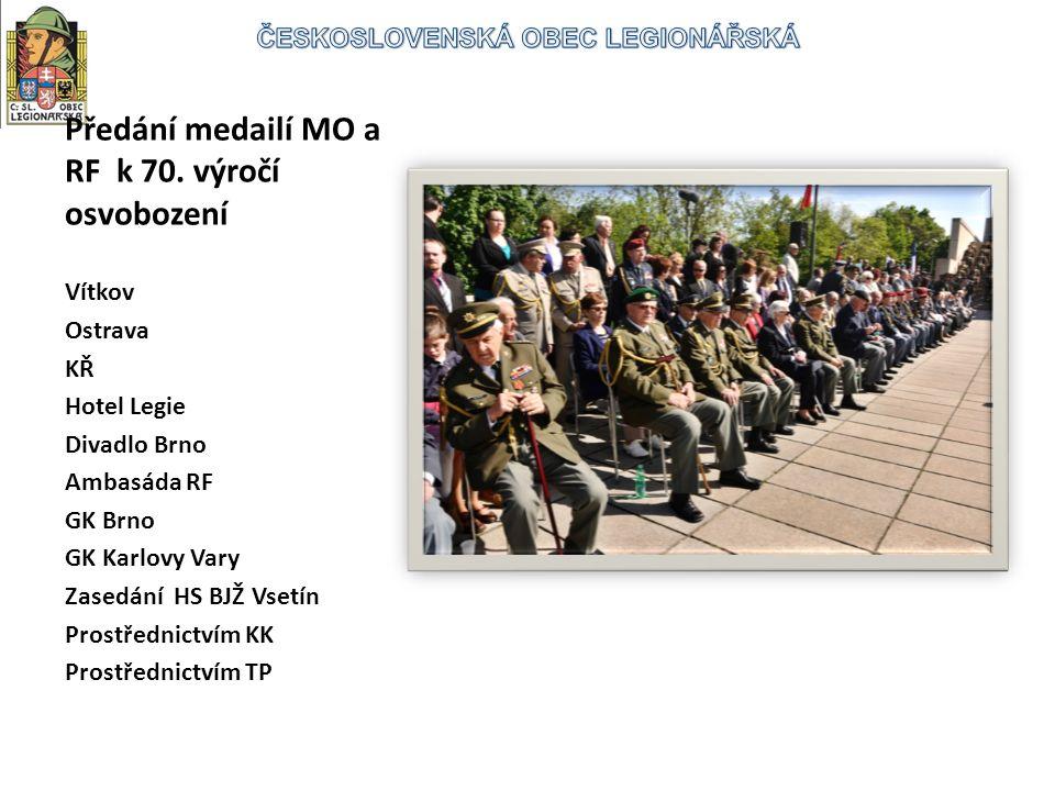 Předání medailí MO a RF k 70.