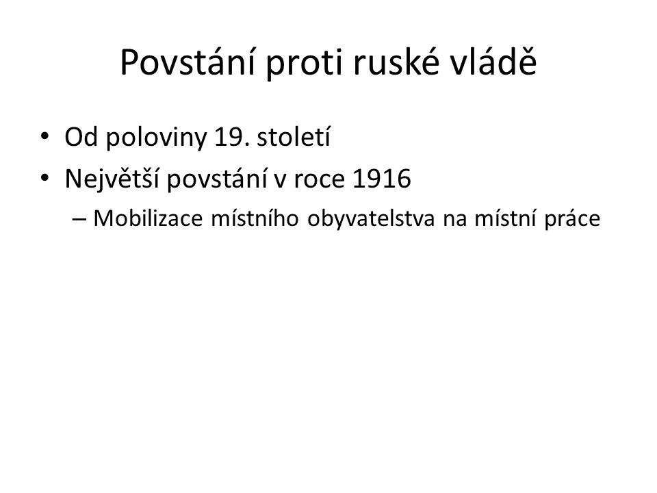 Povstání proti ruské vládě Od poloviny 19.