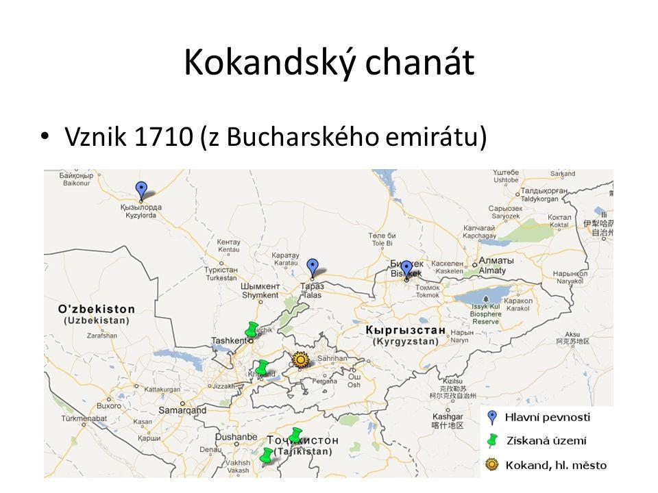 4 fáze kolonizace Turkestánu I.Počátek 18. století až první čtvrtina 19.