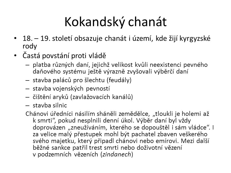 Kokandský chanát 18. – 19.