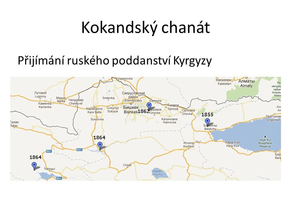 Kokandský chanát Přijímání ruského poddanství Kyrgyzy