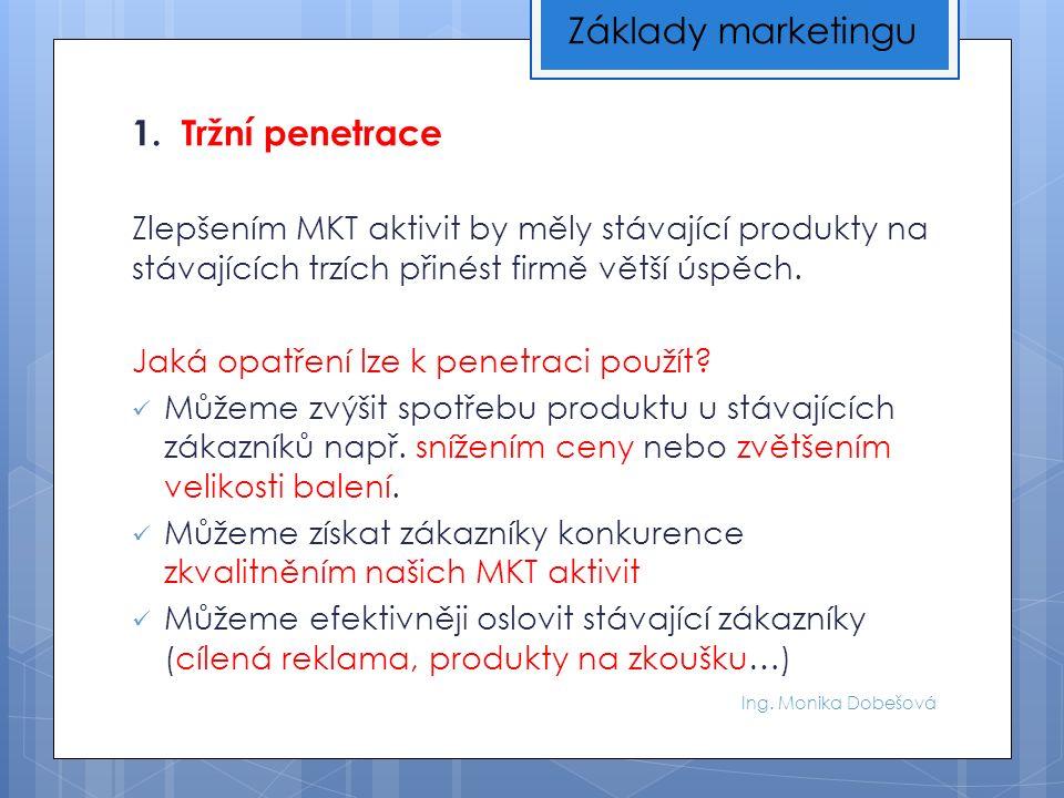 Ing.Monika Dobešová Výpočty hodnotících kritérií portfolia: 1.