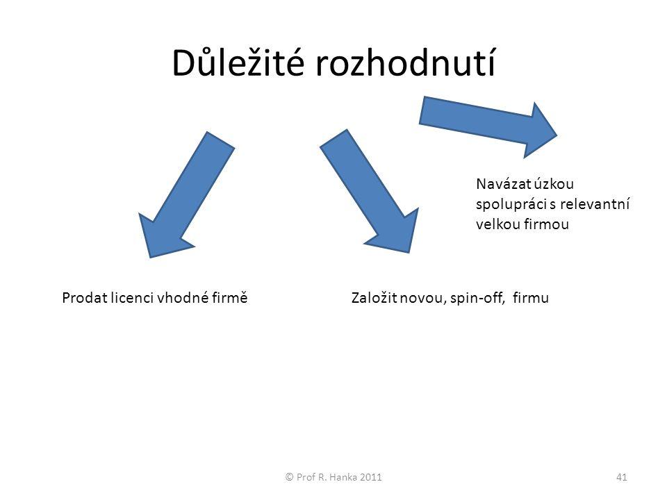 Důležité rozhodnutí © Prof R.