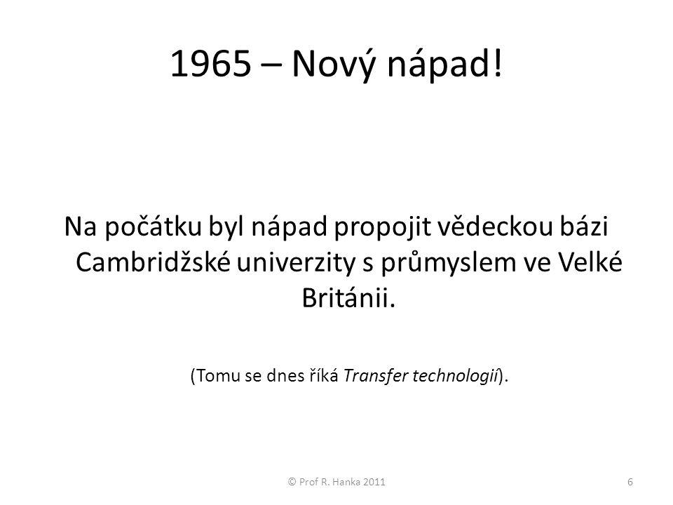 1965 – Nový nápad.
