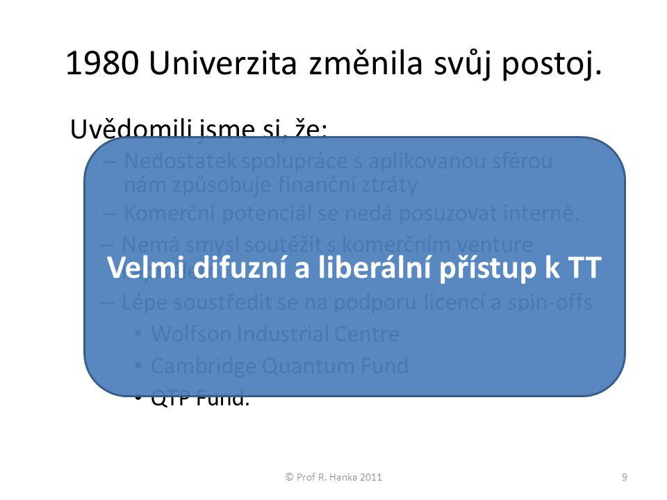 © Prof R. Hanka 201120 Zpětné vazby Grantové agentury špičkoví lidé