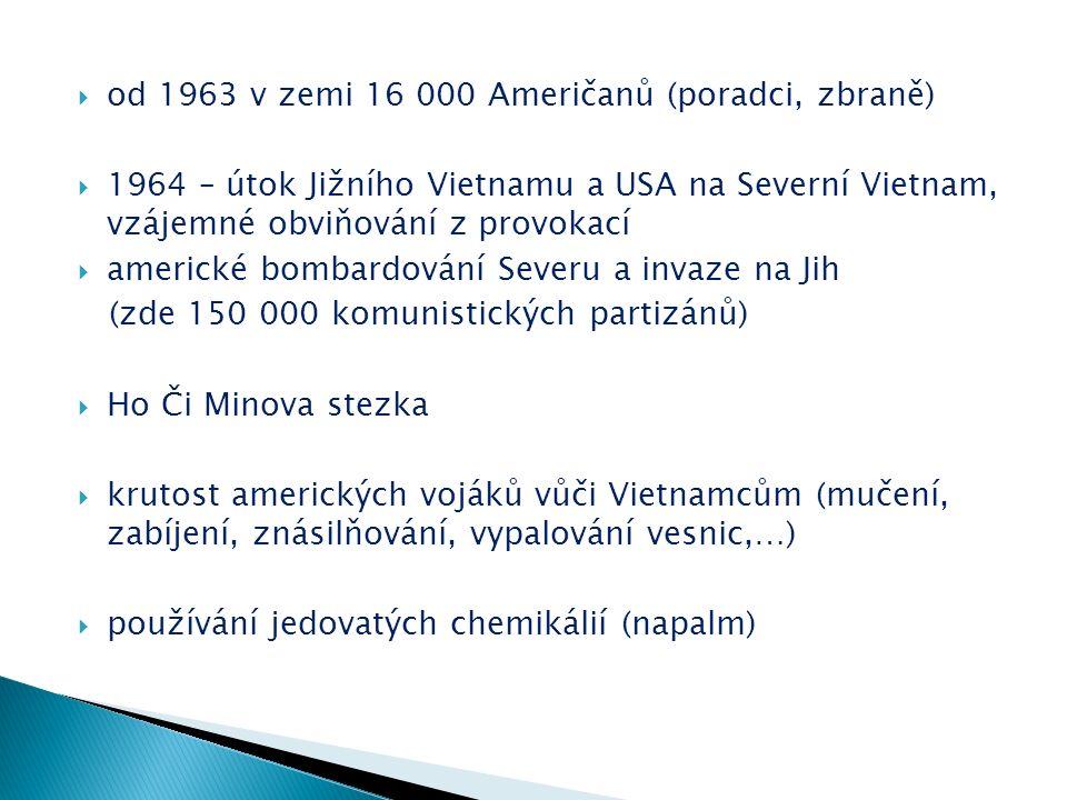  novináři přenášejí hrůzy války v přímém přenosu  velké protiválečné naladění a protesty, včetně amerických  několik velkých demonstrací po celém světě  1969 - protiválečné shromáždění ve Washingtonu – milion lidí  1969 - dosáhl počet amerických vojáků ve Vietnamu svého vrcholu - 543 000 (začalo jejich stahování z Vietnamu)