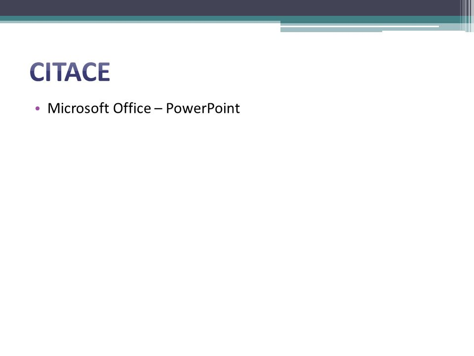 Microsoft Office – PowerPoint