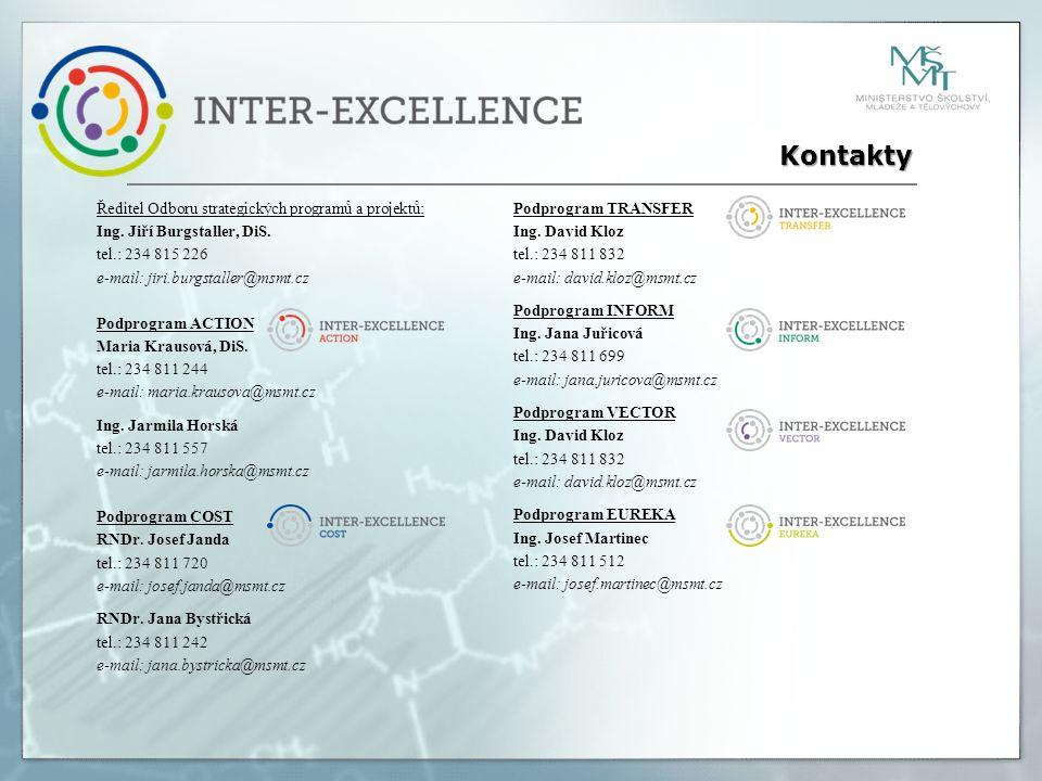 Ředitel Odboru strategických programů a projektů: Ing.