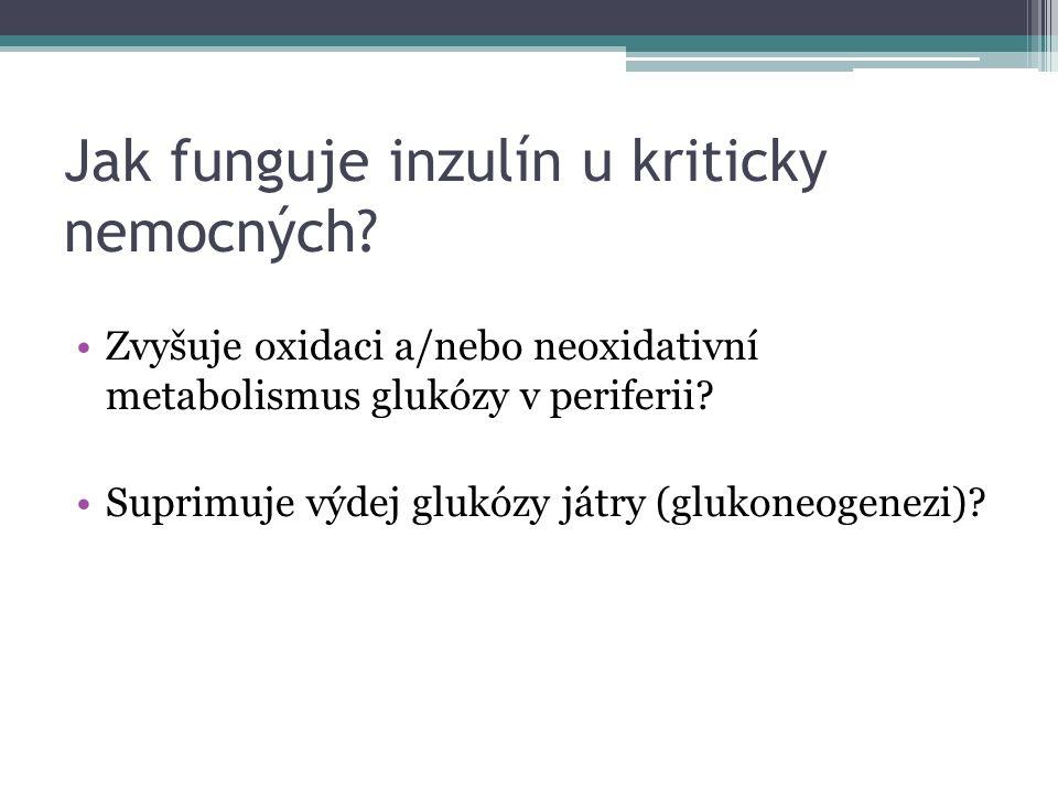 Jak funguje inzulín u kriticky nemocných.