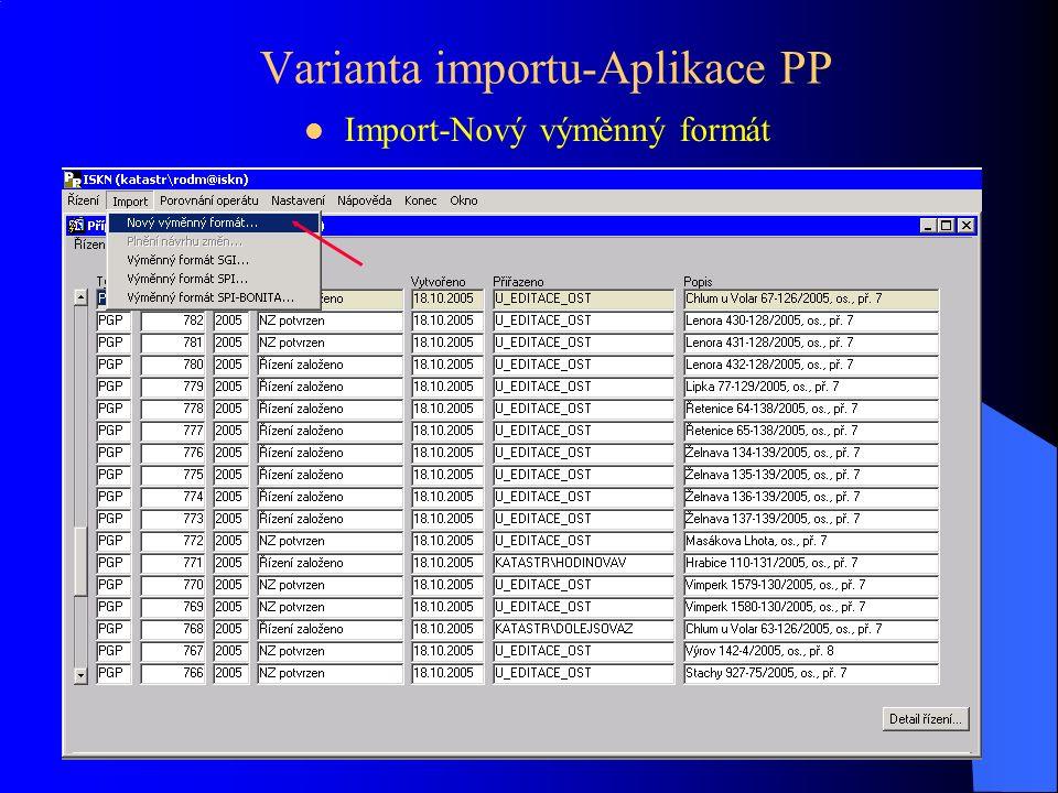 Import v Aplikaci AKIII Přiřazení ZPMZ Import VFK