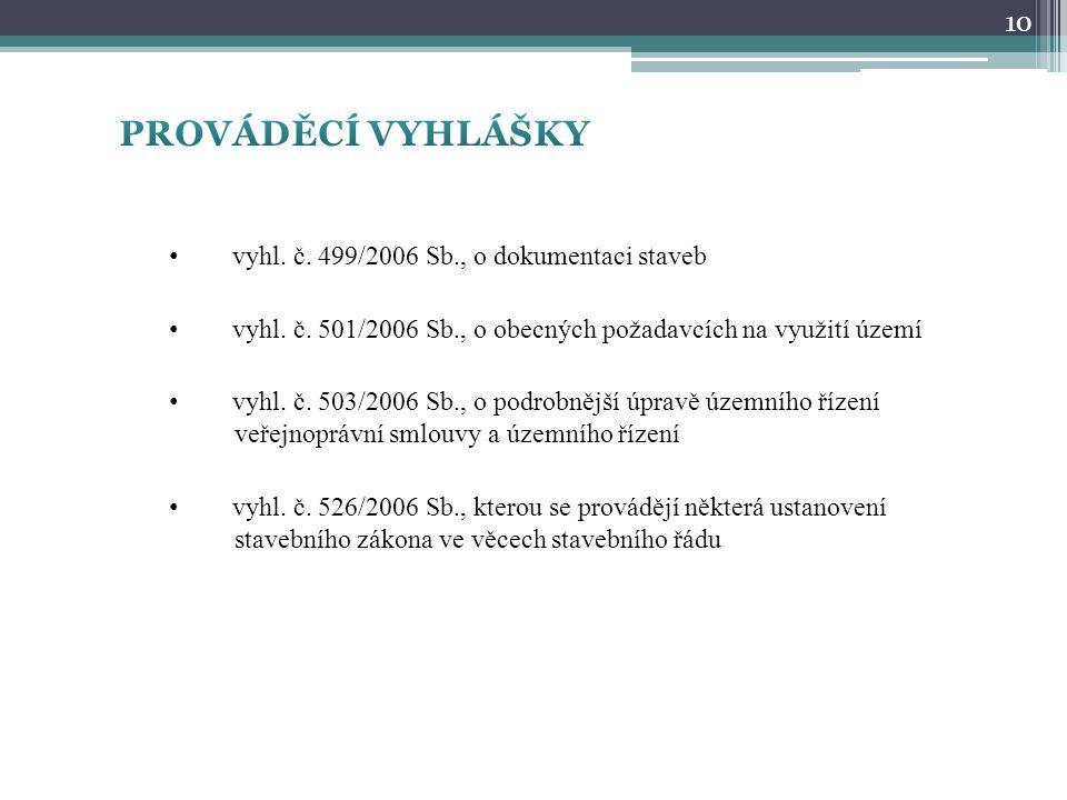 vyhl.č. 499/2006 Sb., o dokumentaci staveb vyhl. č.