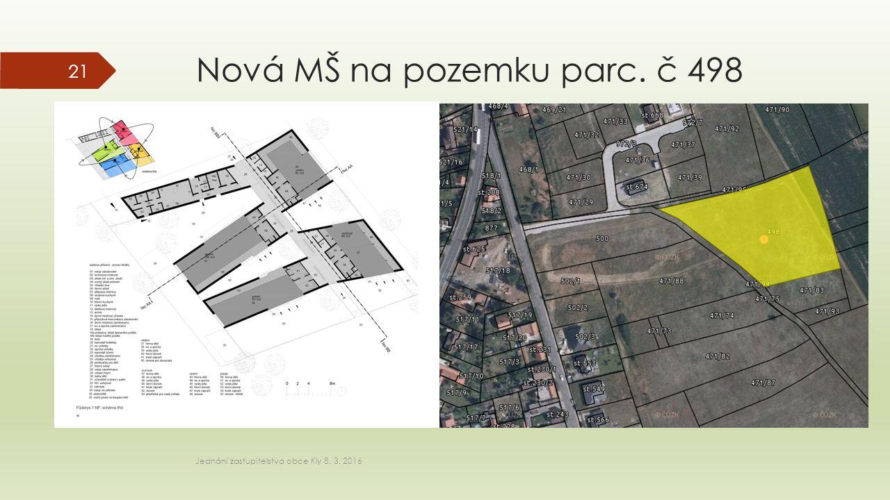 Nová MŠ na pozemku parc. č 498 Jednání zastupitelstva obce Kly 8. 3. 2016 21