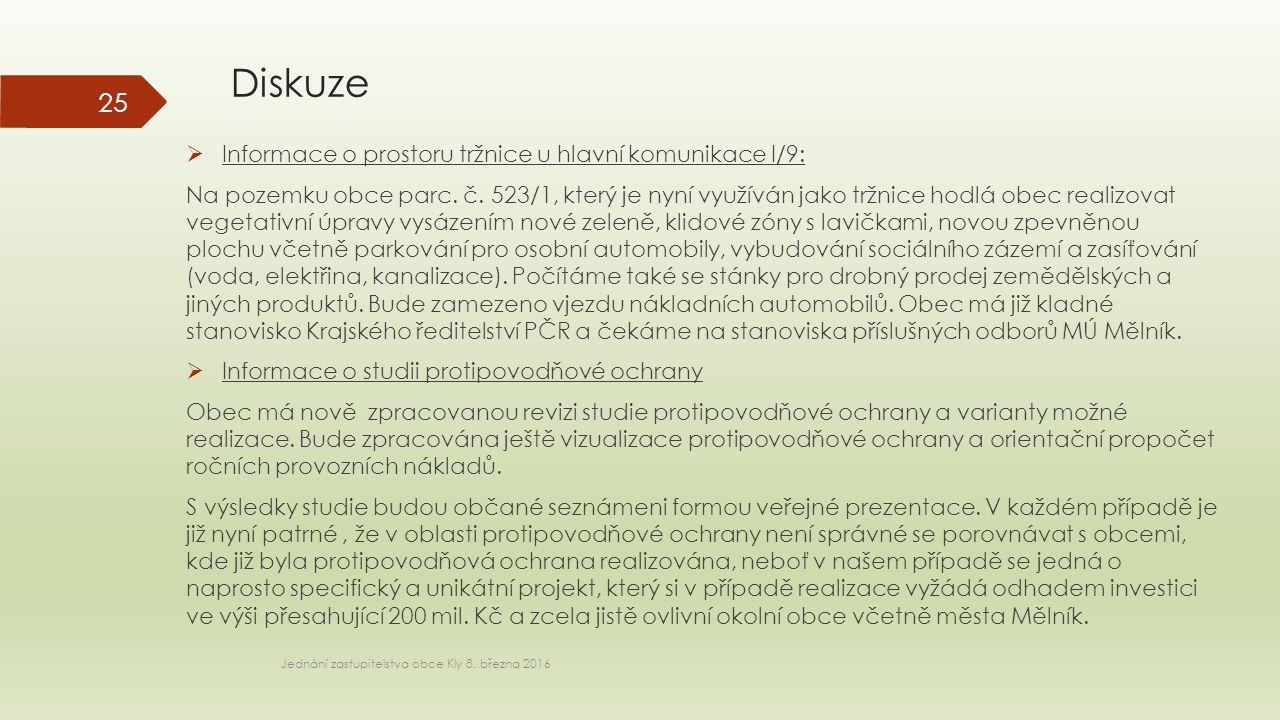 Diskuze Jednání zastupitelstva obce Kly 8.