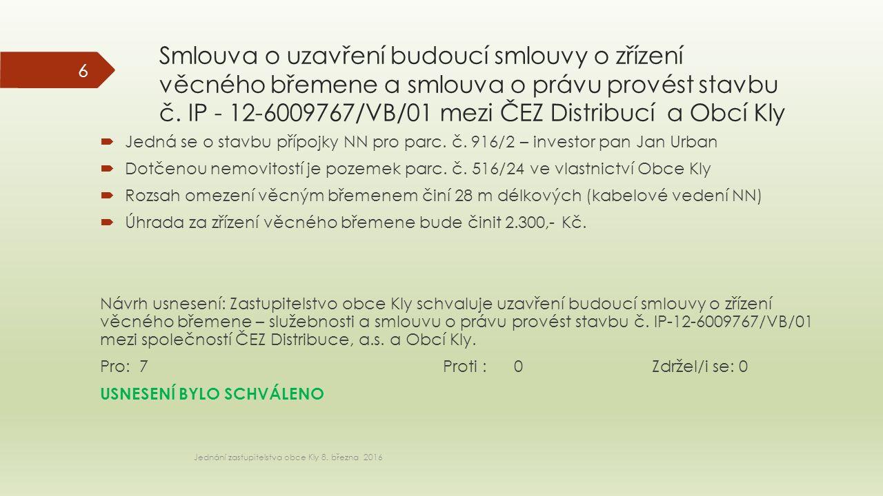Smlouva o uzavření budoucí smlouvy o zřízení věcného břemene a smlouva o právu provést stavbu č.