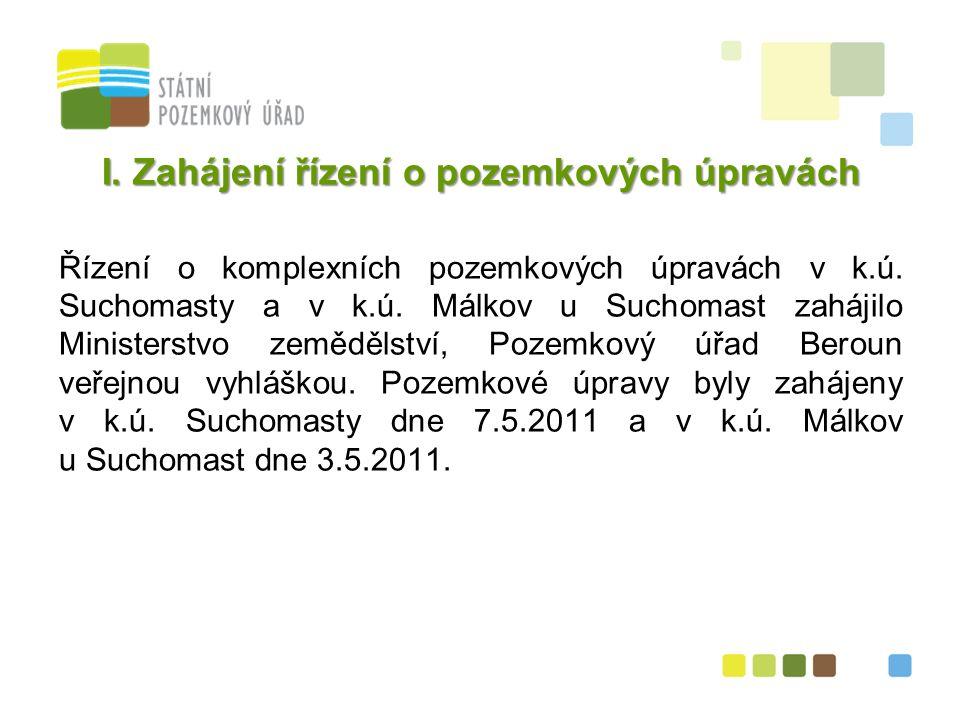 3 I. Zahájení řízení o pozemkových úpravách Řízení o komplexních pozemkových úpravách v k.ú.
