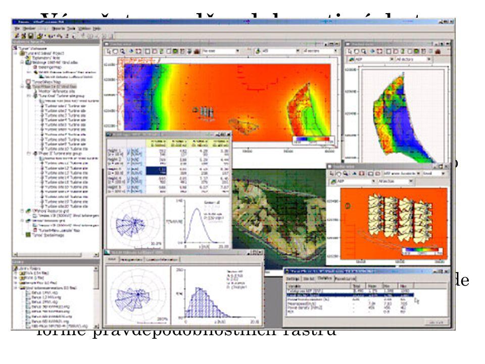Výpočet pravděpodobnosti výskytu těchto větrů domluvena spolupráce s Ústavem fyziky a atmosféry AV ČR, v.v.i Prostorové rozdělení kritických rychlostí větru nad územím ČR bude zjištěno pomocí lineárního modelu implementovaného v systému WAsP Engineering.