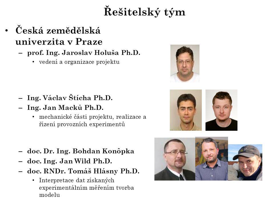 Česká zemědělská univerzita v Praze – prof. Ing. Jaroslav Holuša Ph.D.