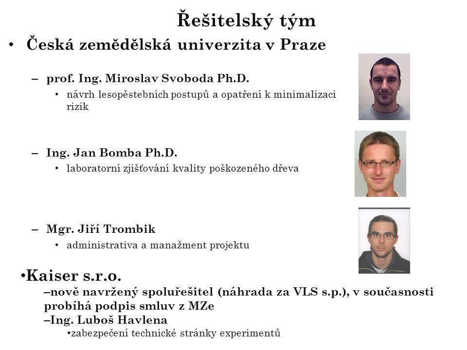 Česká zemědělská univerzita v Praze – prof. Ing. Miroslav Svoboda Ph.D.