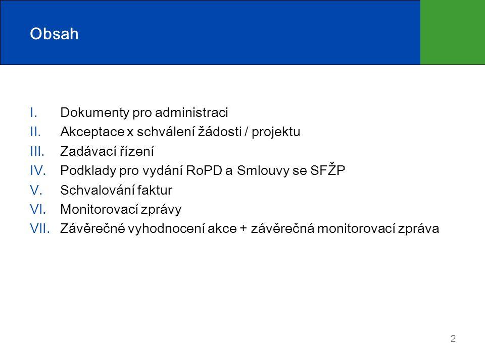 23 VI. Průběžná monitorovací zpráva