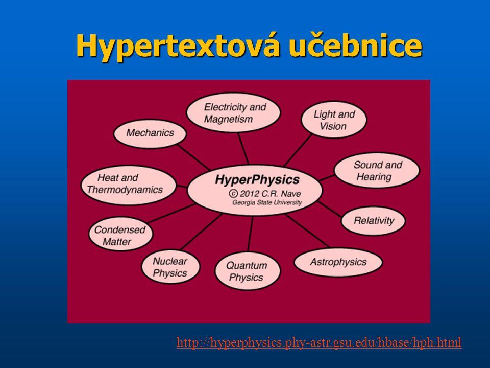 Hypertextová učebnice http://hyperphysics.phy-astr.gsu.edu/hbase/hph.html