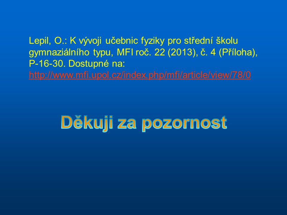 Lepil, O.: K vývoji učebnic fyziky pro střední školu gymnaziálního typu, MFI roč.