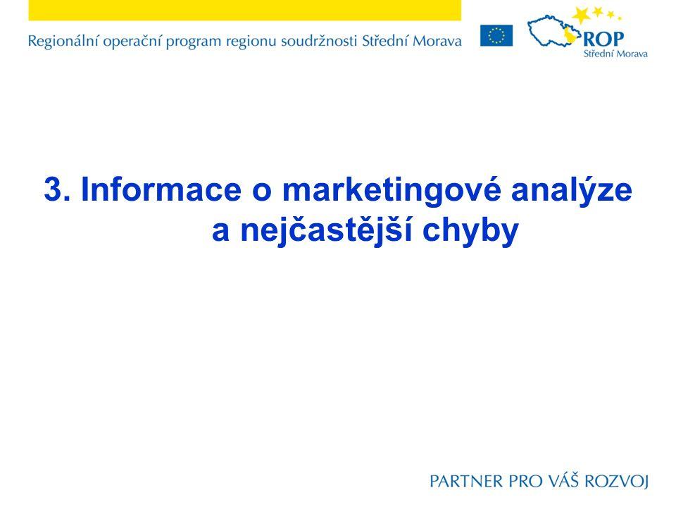 3. Informace o marketingové analýze a nejčastější chyby