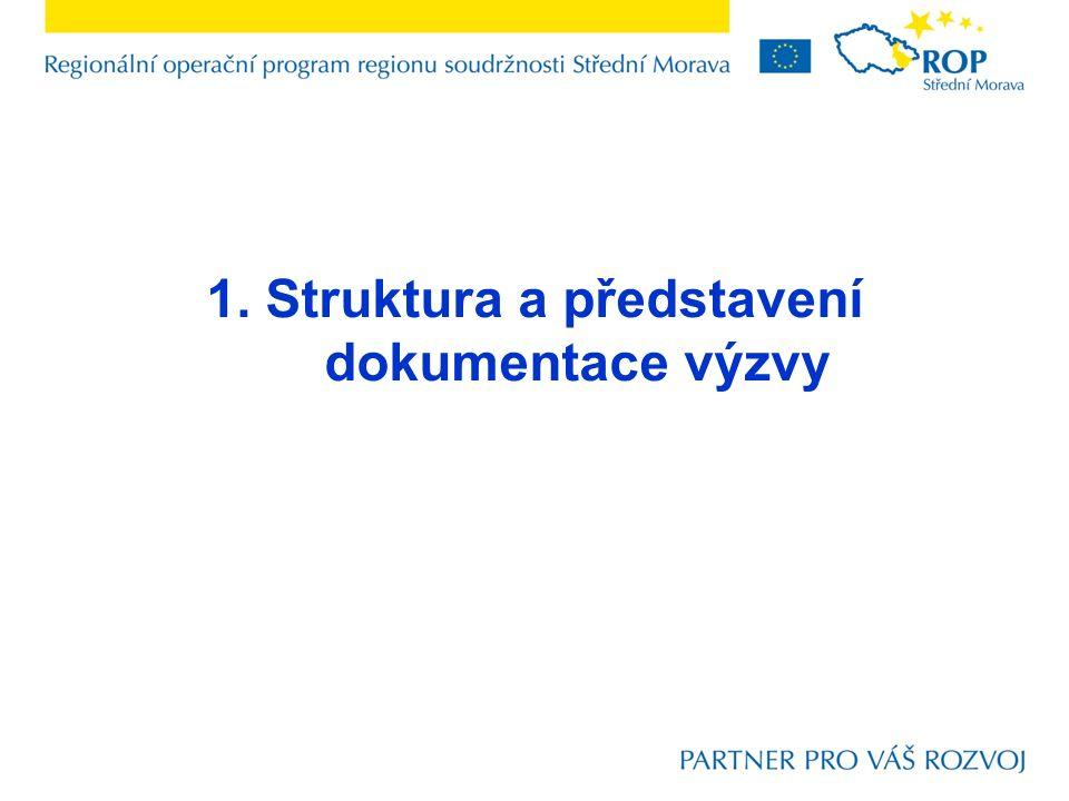 1. Struktura a představení dokumentace výzvy