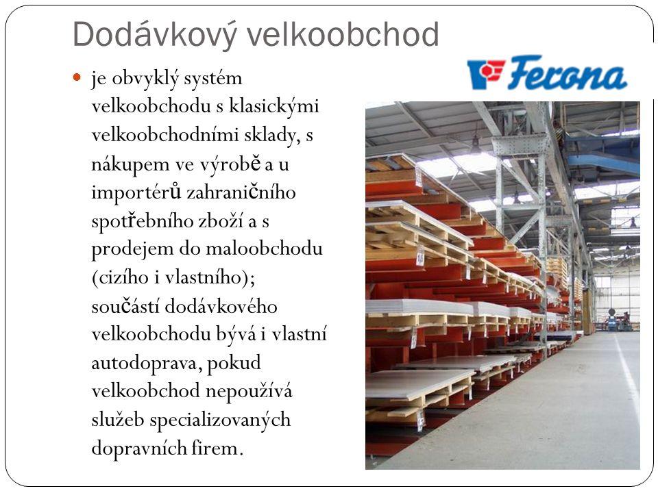 Dodávkový velkoobchod je obvyklý systém velkoobchodu s klasickými velkoobchodními sklady, s nákupem ve výrob ě a u importér ů zahrani č ního spot ř ebního zboží a s prodejem do maloobchodu (cizího i vlastního); sou č ástí dodávkového velkoobchodu bývá i vlastní autodoprava, pokud velkoobchod nepoužívá služeb specializovaných dopravních firem.
